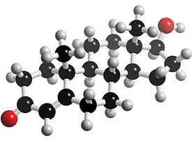 testosterone atoms