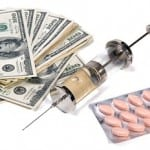 money and injection with pills